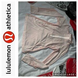 LuLuLemon Pale Pink  Half ZIP Pullover. Size 10